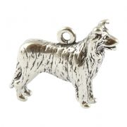 Border Collie Sterling Silver Charm